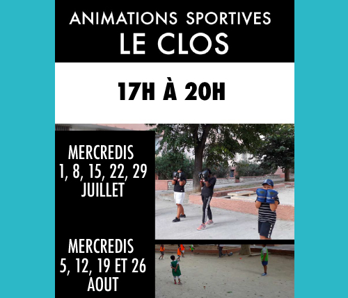Animations sportives - Les Clos