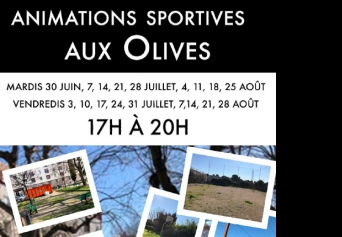 Animations sportives aux Olives