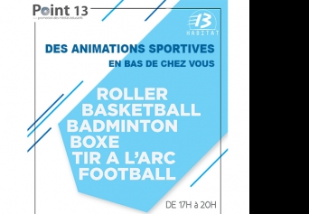 Animations ludiques et sportives cet été