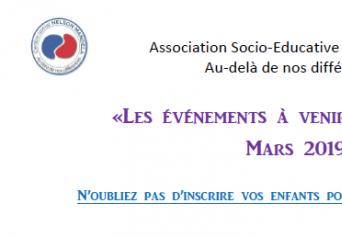 Programmation du mois de mars du centre social Nelson Mandela à Port de bouc.