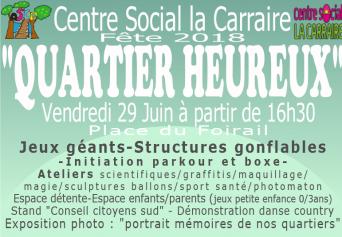 Programme du mois de Juillet du Centre social Nelson Mandela à Port-de-Bouc