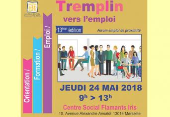 Tremplin vers l'emploi - 13ème édition - Centre social Flamants-Iris - Jeudi 24 Mai 2018