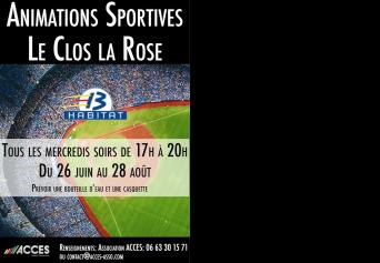 Animations sportives - Le Clos La Rose - Tous les mercredis soir pendant l'été