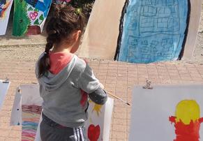 Reprise de l'atelier de peinture de rue à la Bégude Nord