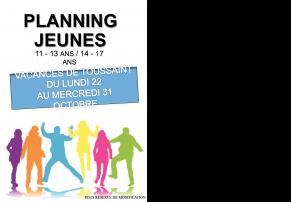 Planning des animations du centre socio - culturel Jean Giono à Miramas pour les vacances de la Toussaint