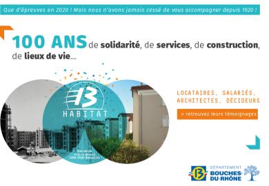 13 Habitat a 100 ans ! Retrouvez les témoignages de locataires, architectes, salariés...qui ont fait l'histoire de 13 Habitat.