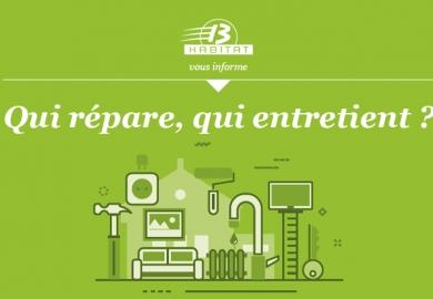 « Qui répare, qui entretient ? », un guide pratique pour les locataires.