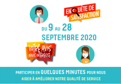 Enquête de satisfaction du 9 au 28 Septembre 2020