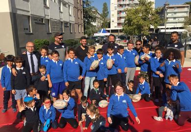 Le rugby a conquis les jeunes locataires